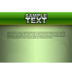 template green stripe text vector image vector image