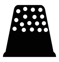 Thimble icon simple style vector