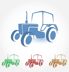 Tractor stylized icon vector
