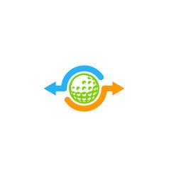 transfer golf logo icon design vector image