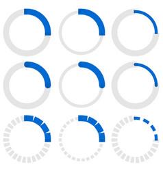 Transparent progress indicators preloaders phase vector