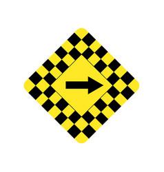 usa traffic road signsdanger sharp turn vector image