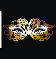 Venetian mask with eyes vector