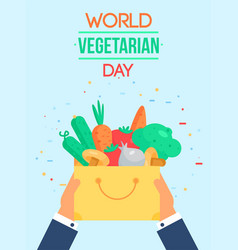 World vegetarian day vector