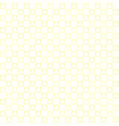 Yellow checkered shamrock pattern seamless square vector