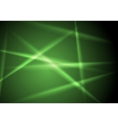 Abstract shiny green glowing stripes layout design vector image vector image