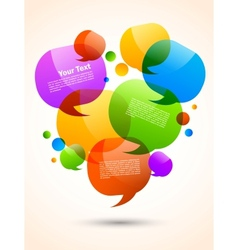 Background with speech bubbles vector image