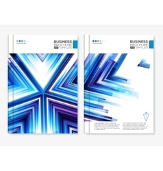 Blue business covers set vector image vector image