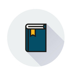 book icon on round background vector image vector image