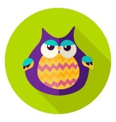 Cute Owl Circle Icon vector image