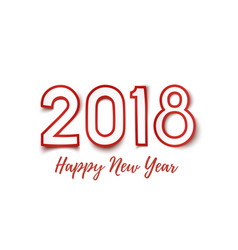 happy new year 2018 background vector image vector image