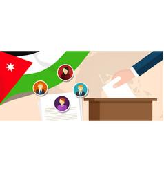 jordan democracy political process selecting vector image vector image