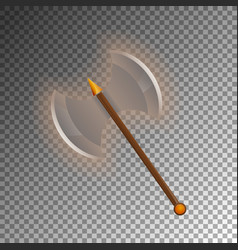 Medieval two blades axe isolated game element vector