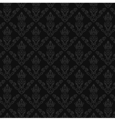 Seamless Damask Wallpaper 2 Gray Color vector image vector image