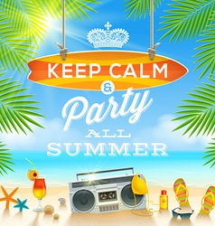 Summer holidays greeting design vector image vector image