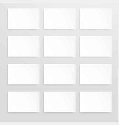 blank sheets of white paper set vector image vector image