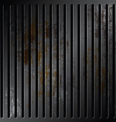grille metallic with rusty vector image