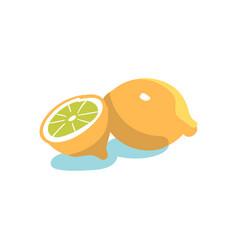 Hand drawn lemon vector