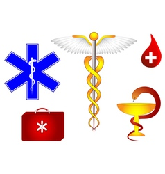 medical symbol set vector image vector image