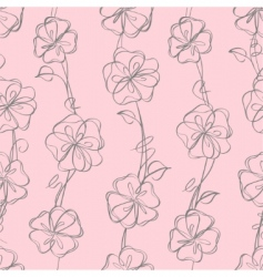 seamless floral white vector background vector image vector image