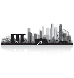 Singapore city skyline silhouette vector image