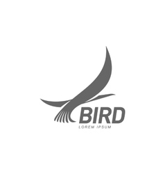 Stylized heron crane stork silhouette logo vector image