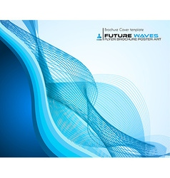 waves background for brochures and flyers design vector image