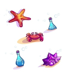 Image of beach dwellers vector