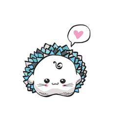 kawaii cute hedgehog vector image