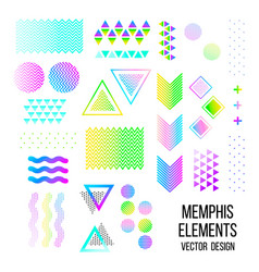 memphis pattern elements vector image vector image