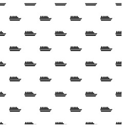 People on ship pattern vector