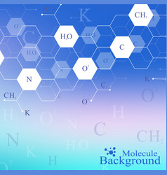 scientific hexagonal chemistry pattern structure vector image