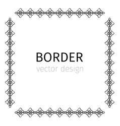 simple square black border vector image vector image