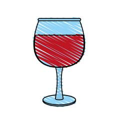 transparent wine glas icon vector image