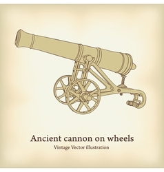 antique cannon vector image vector image