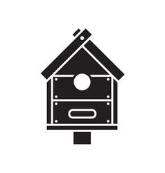 bird nesting box icon vector image vector image