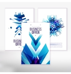 Blue business covers vector image vector image