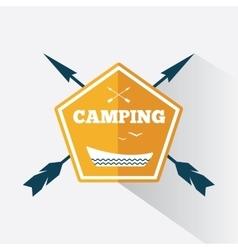 Camping logo design vector image