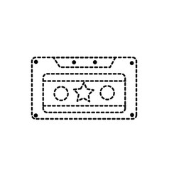 dotted shape old cassette retro object stereo vector image vector image