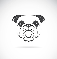 image of an dog face vector image