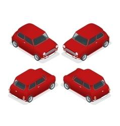 Isometric Mini car model closeup vector image