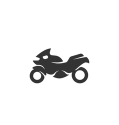 Motorcycle icon isolated on white background vector image vector image