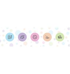 5 fishing icons vector