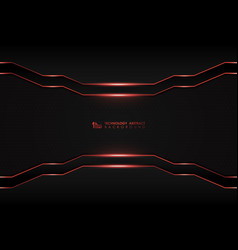 Abstract dark digital template with red laser vector