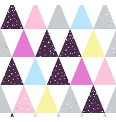 Abstract grunge triangle seamless pattern vector image