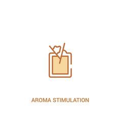 Aroma stimulation concept 2 colored icon simple vector