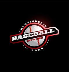 baseball modern professional sport typography vector image