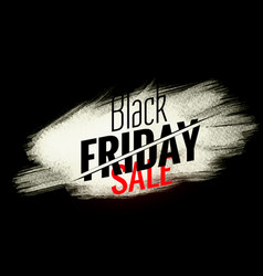 black friday sale banner with white paint stroke vector image