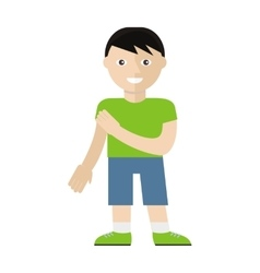 Boy Character in Flat Style vector image