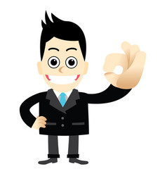 businessman with a finger gesture ok vector image